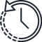 clock time passing icon