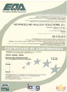 certificado en 9100:2018 ams