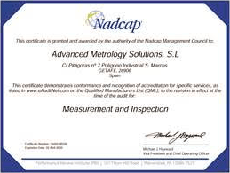 measurement and inspection certification for ams