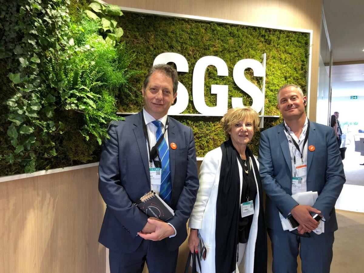 visita de equipo ejecutivo AMS SGS al Salon Aeronautico de Paris-Le Bourget
